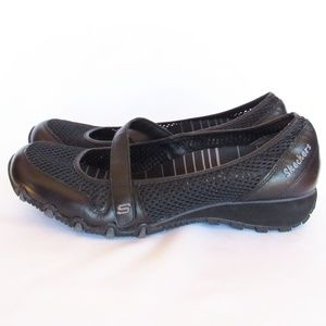 Skechers Slip On  MaryJane Strap Mesh Shoes